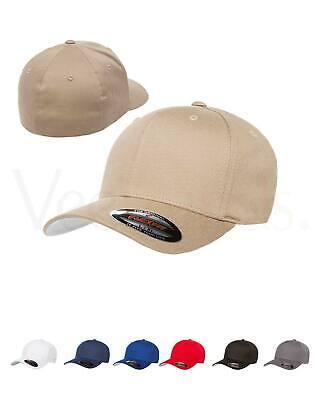 V-Flexfit Cotton Twill Baseball Cap Fitted Flex Fit Ballcap Plain Blank Hat 5001 Clothing, Shoes & Accessories
