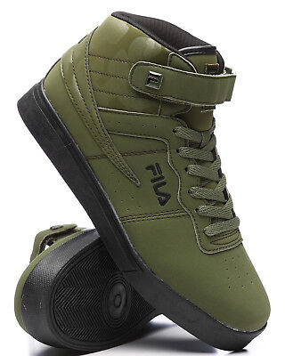 Camo High Top Sneakers (NEW 2018 MEN'S FILA VULC 13 MID PLUS GREEN BLACK CAMO CLASSIC HIGH TOP SNEAKERS)