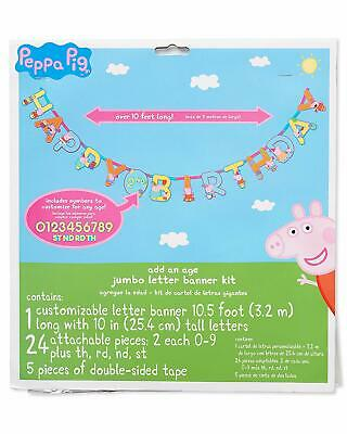 Peppa Pig Birthday Banner (Peppa Pig Add an Age Happy Birthday Jumbo Letter Banner Kit)