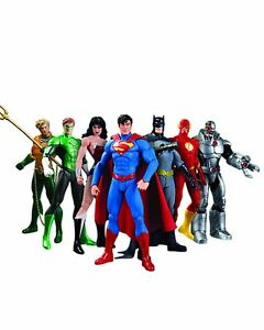 Set 7 Justice League Superman Batman Flash Aquaman DC Universe action Figures