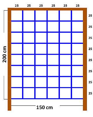 Kletternetz BLAU 200x150cm XXL Netz für Spielturm Kletterwand Strickleiter NEU
