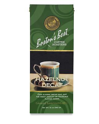 Boston's Best Coffee Roasters, Decaf Hazelnut Ground Coffee, 12 (Best Decaf Ground Coffee)