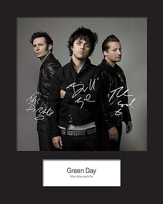 GREEN DAY #2 10x8 SIGNED Mounted Photo Print - FREE DELIVERY