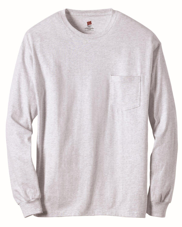 4f5b3e8442e8 Hanes Long Sleeve Pocket Tee Shirts « Alzheimer's Network of Oregon