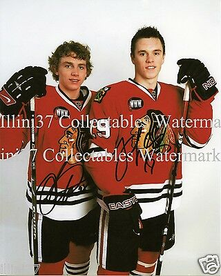 PATRICK KANE JONATHAN TOEWS CHICAGO BLACKHAWKS SIGNED AUTOGRAPHED 8X10 PHOTO RP