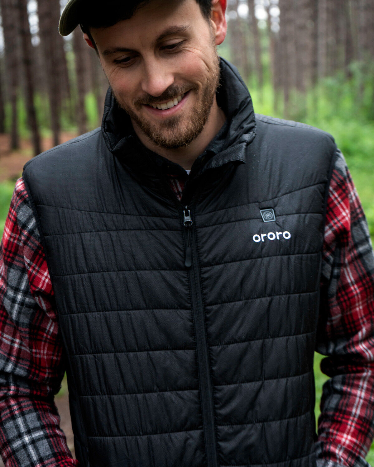 US Stock ORORO Men Heated Vest With Battery Water Resistant