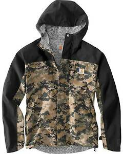 Carhartt Men's Camo Shoreline Vapor Waterproof Jacket (MEDIUM) Yarraville Maribyrnong Area Preview