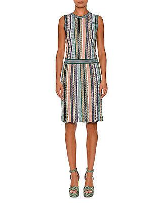 Missoni Sleeveless Stripe-Knit Dress Green/Multi Orig:$1375.00 Size 44 IT (8 US)