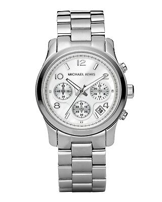 MK5076 -New Michael Kors Runway Silver Dial Chrono Stainless Steel Women's Watch