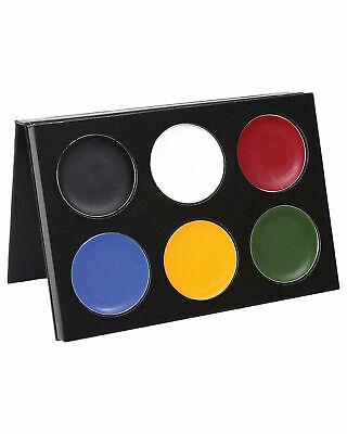 Halloween Makeup Basics (Mehron Makeup Mask Cover Basic Bright Palette 6)