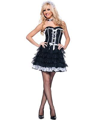 Morris Costumes Women's Classic Halloween French Maid Fifi Costume M. UR29191MD (Classic French Maid Costume)