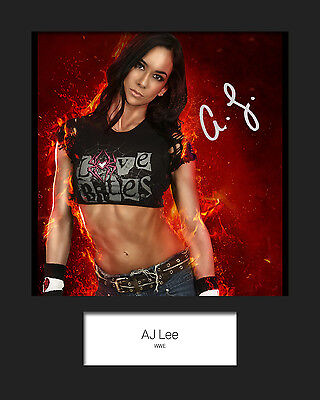 AJ LEE #1 (WWE) Signed 10x8 Mounted Photo Print - FREE DELIVERY
