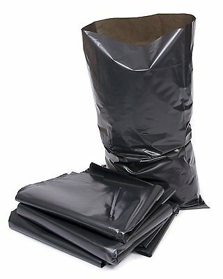 300 Black Rubble Bags / Builders Sacks - 520 Gauge CHEAPEST ON EBAY
