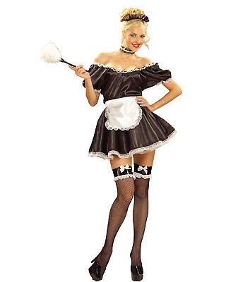 Morris Costumes Women's Classic Halloween French Maid Costume One Size. FM52448 (Classic French Maid Costume)
