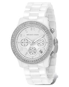 ***MINT Michael Kors White Ceramic Glitz Watch***