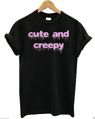 Cute and Creepy T Shirt Halloween Hipster Grunge Girl Swag Tumblr Fresh Skater