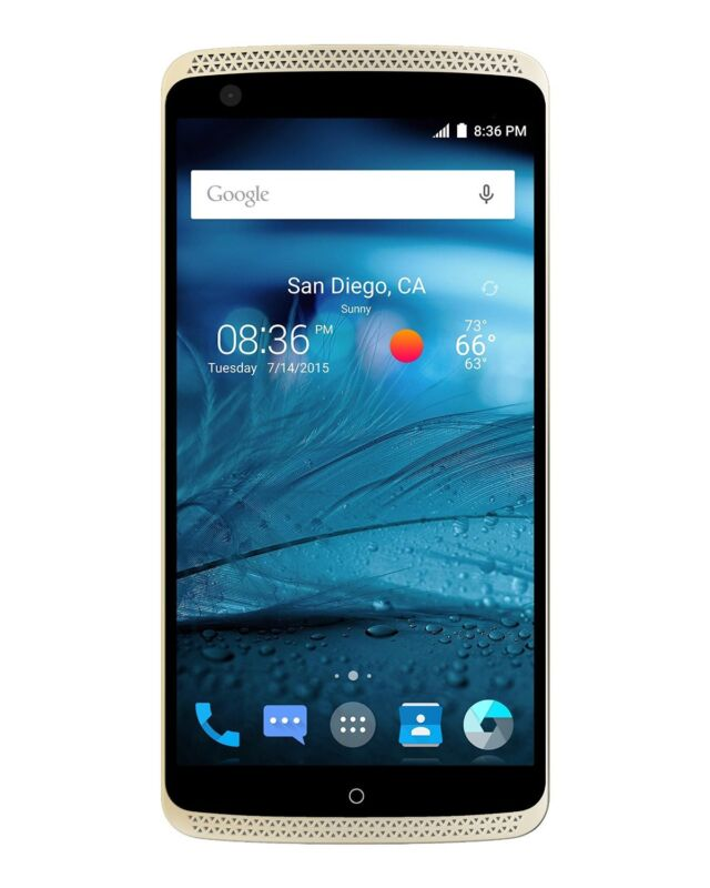 ZTE Axon 4G with 32GB Smart Phone Unlocked Ion Gold