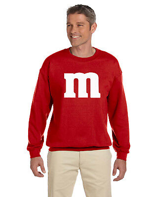 M & M Unisex Pullover Crew Neck Cheap and Easy Halloween Costume Funny Unique