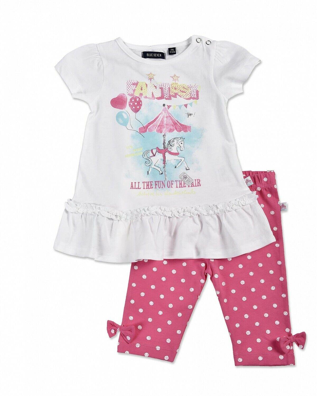 BLUE SEVEN ♥ Baby Mädchen Tunika und Leggings in pink ♥ Gr. 56 62 68 74 80 86