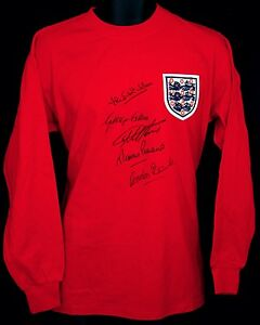 1966 England World Cup Final Signed Shirt Signed By 5