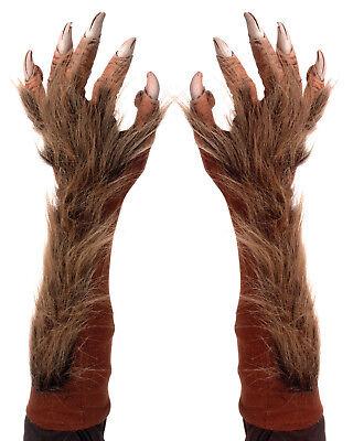 Morris Costumes Adult Unisex Elbow Length Werewolf Hands Brown One Size. 1004BSG