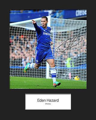 EDEN HAZARD - CHELSEA Signed 10x8 Mounted Photo Print - FREE DEL