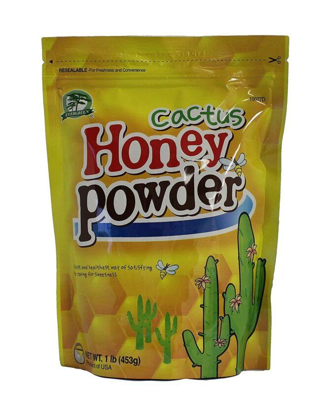 New Sealed Evergreen Cactus Honey Powder, 16 oz Easy Healthy Way to Satisfy Sweet