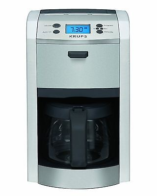 KRUPS KM8105 12-CUP DIE-CAST PROGRAMABLE COFFEE MAKER STAINLESS STEEL BRAND NEW (Krups Stainless Steel)