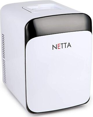 NETTA - 15L Portable White Mini Fridge With Cooling And Warming Function | AC/DC
