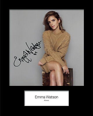 EMMA WATSON #3 Signed (Reprint) 10x8 Mounted Photo Print - FREE DELIVERY