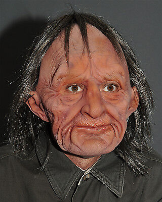 Funny Old Man Halloween Mask Supersoft Moves with Face Make Your Own Fun Movie - Make Your Own Latex Halloween Masks