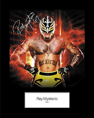 REY MYSTERIO #1 (WWE) Signed 10x8 Mounted Photo Print - FREE DELIVERY