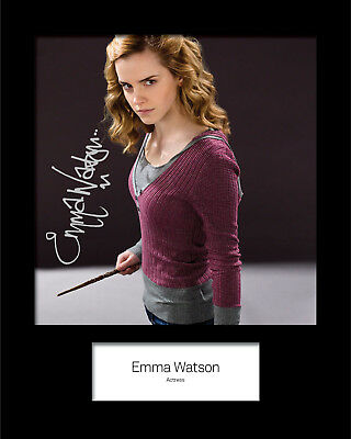 EMMA WATSON #2 Signed (Reprint) 10x8 Mounted Photo Print - FREE DELIVERY