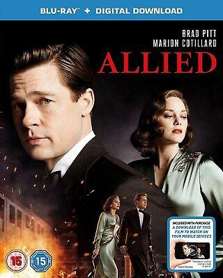 Allied  Blu Ray 2017 W  Slipcover  Free Fast Shipping  Brad Pitt  War Action
