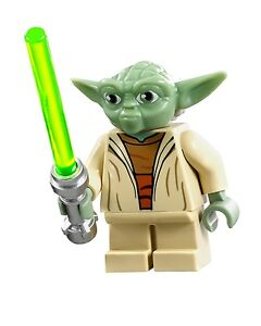 LEGO® STAR WARS™ YODA with GREEN LIGHTSABER™ 75002 MINIFIGURE AT-RT NEW