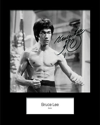 BRUCE LEE #1 Signed (Reprint) 10x8 Mounted Photo Print - FREE DELIVERY