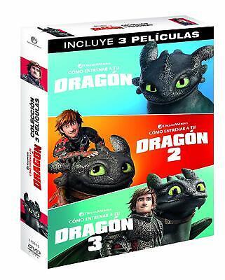 COMO ENTRENAR A TU DRAGON DVD TRILOGIA 1 + 2 + 3...