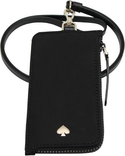Kate Spade New York L-Zip Jae Card Case Lanyard Black