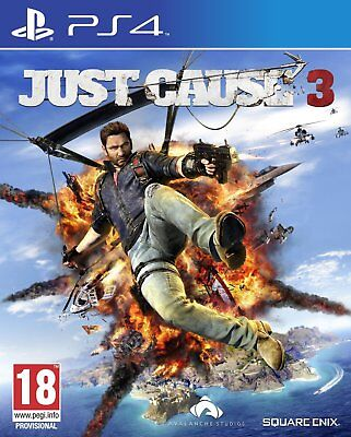 Just Cause 3 PS4 PlayStation 4 Brand New Factory Sealed