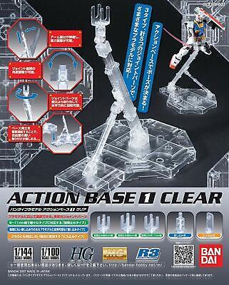 Bandai Hobby Gundam Action Base 1 MG 1/100 Scale Clear Display Stand USA Seller 100 Action Base