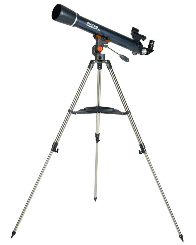 Celestron AstroMaster LT 70AZ Refractor No-Tool Setup Refracting Telescope-21074