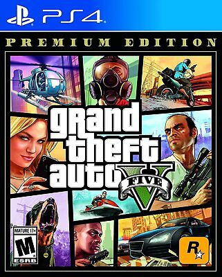 GRAND THEFT AUTO V PREMIUM ONLINE EDITION (PS4, 2018)  (0322)  FREE SHIPPING USA