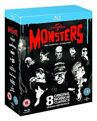 Universal Monsters: The Essential Collection [Blu-ray Box, Region Free, - Classic Halloween Movies Family
