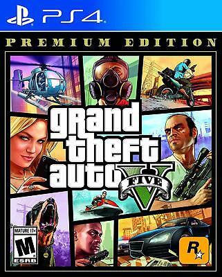 Grand Theft Auto V Premium Edition GTA 5 PS4 Sony PlayStation 4, 2013 Brand New
