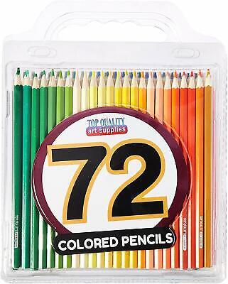 Best Colored Pencils - 72 Coloring Pencil Set With Case - Artist (Best Artist Pencil Set)
