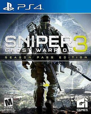 PLAYSTATION 4 PS4 VIDEO GAME SNIPER ELITE 3 GHOST WARRIOR SEASON PASS EDITION, usado segunda mano  Embacar hacia Mexico