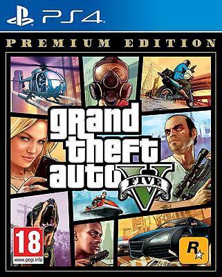 GTA Grand Theft Auto 5 V Five PS4 Game - Premium Edition Includes GTA Online segunda mano  Embacar hacia Spain