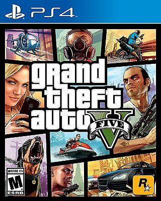 Grand Theft Auto 5 V  Playstation 4 Ps4  Ntsc  Video Game  Brand New Sealed