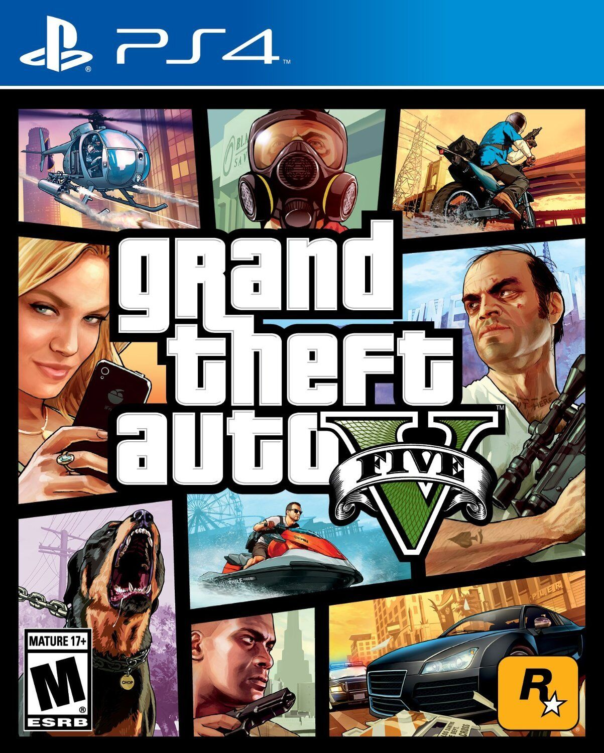 Grand Theft Auto 5 V (playstation 4 Ps4, Ntsc, Video Game...