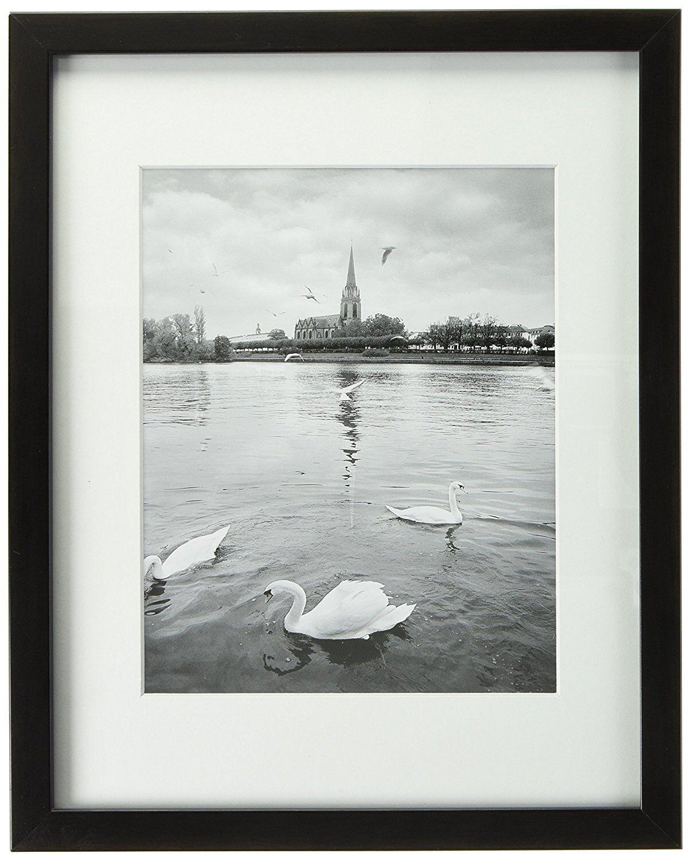 Pack of 2, 11x14 Ebony Black Color Wood Swan Photo Frame wit